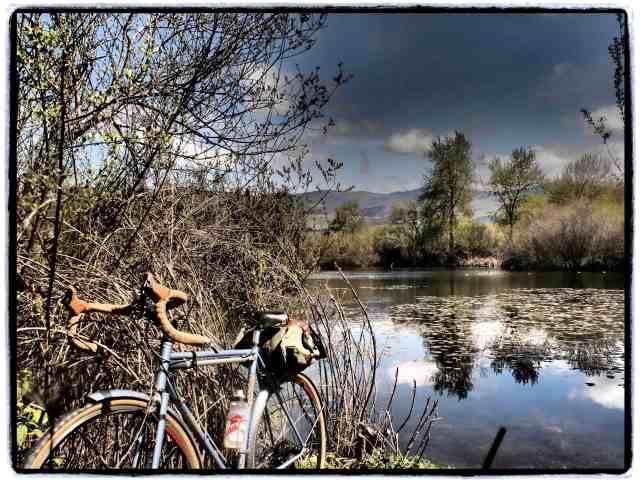 """Bike Path"", 17mm Zuiko lens, Dramatic Tone filter"