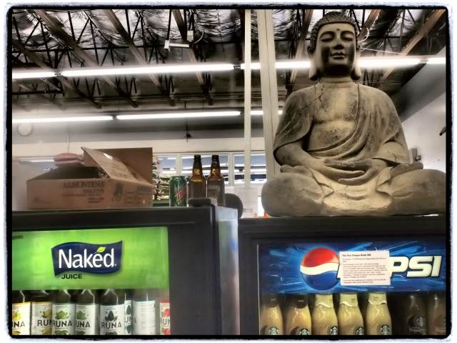 """Naked Juice Buddha"", 17mm Zuiko lens, Dramatic Tone filter"