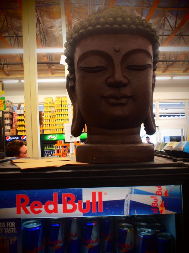 """Red Bull Buddha"", 17mm Zuiko lens, Pop Art filter"